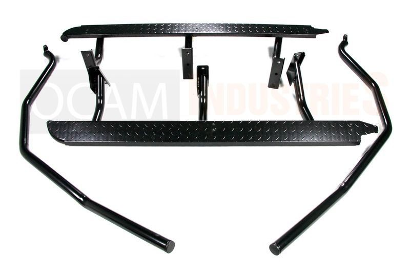 rock sliders steel side steps  brush bars  u0026 alloy roof rack for mitsubishi triton ml mn 2006