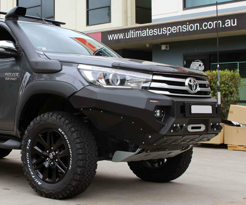 Rival Bullbar Alloy Winch Compatible with Recovery Points to suit Toyota  Hilux GUN N80 Revo 2015- On
