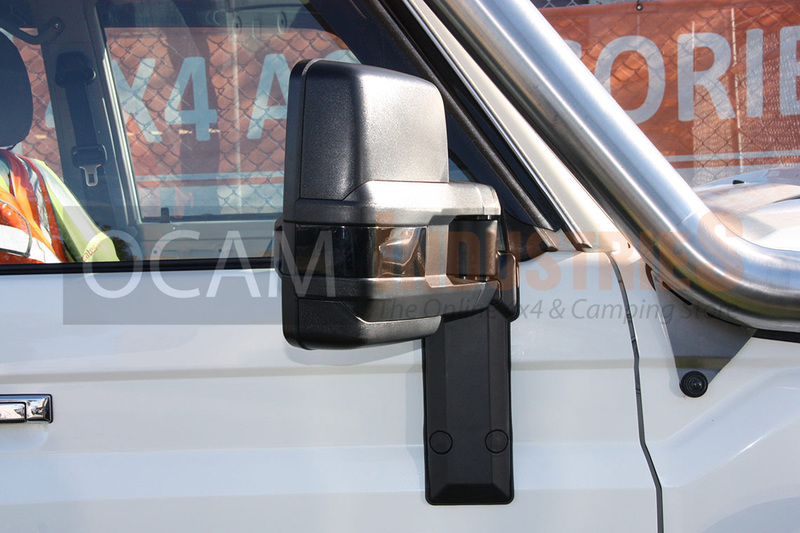 Ocam Extendable Towing Mirrors For Toyota Landcruiser 75