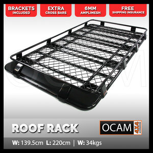 Aluminium Roof Rack For Land Rover Discovery 1 & 2 Full Length Cage Basket