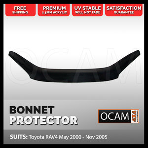 Bonnet Protector for Toyota RAV 4 May 2000 - Nov 2005 Tinted Guard
