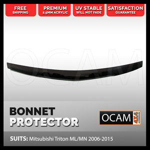 Bonnet Protector for Mitsubishi Triton ML MN 2006-2015 Tinted Guard