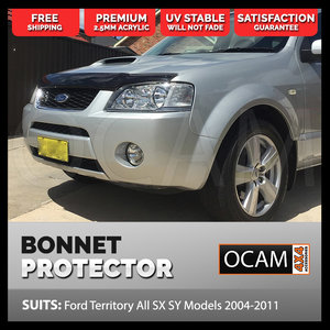 Bonnet Protector For Ford Territory All SX SY Models 2004-2011 Tinted