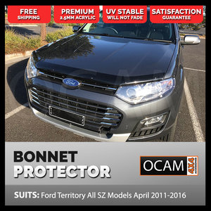 Bonnet Protector For Ford Territory All SZ Models April 2011-2016 Tinted