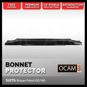 Bonnet Protector for Nissan Patrol GQ Y60 Tinted Guard Maverick