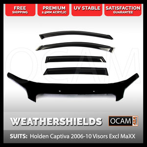 Bonnet Protector & Weathershields For Holden Captiva CG 2006-10
