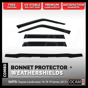 Bonnet Protector, Weathershields For Toyota Landcruiser 79 Series 2017+
