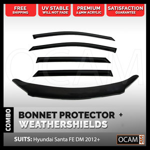 Bonnet Protector, Weathershields For DM Hyundai Santa Fe 2012-17 Visors