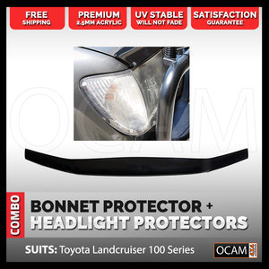 Bonnet & Headlight Protectors For Toyota Landcruiser 100 Series 1998-2005