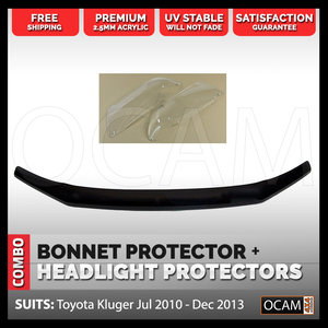 Bonnet Protector Headlight Protector For Toyota Kluger Jul 2010 - Dec 2013 4X4