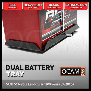 OCAM Dual Battery Tray for Toyota Landcruiser 200 Series 09/2016-20, Under Bonnet