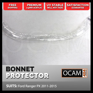 Bonnet Protector for Ford Ranger PX 2011-2015 MK 1 Clear Guard