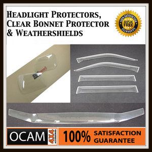 Clear Bonnet, Headlight Protectors, Visors For Toyota Landcruiser 100