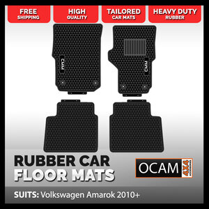 CMM Rubber Car Floor Mats for Volkswagen Amarok, 2010-20,