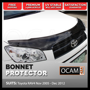 Bonnet Protector for Toyota Rav 4 Dec 2005-Dec 2012 Tinted Guard Rav4