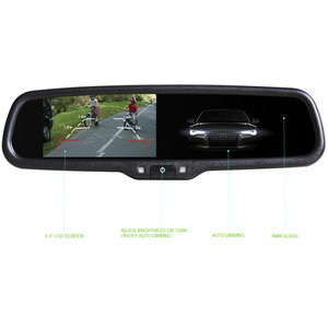 "4.3"" Clip On Touch Screen Replacement Mirror Auto Dimming & Brightness OEM Style"