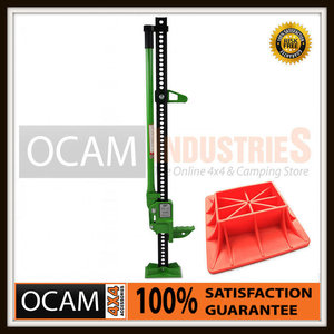 High Lift Jack Farm Heavy Duty Green 48 inch & Base Plate 4x4 4WD