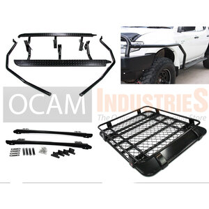 Steel Side Steps & Brush Bars Alloy Roof Rack For Triton ML MN 06-15