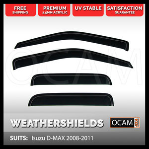 OCAM Weathershields For Isuzu D-MAX 2008-2011 Window Visors D MAX DMAX