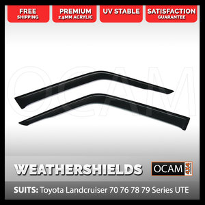 Weathershields For Toyota Landcruiser 70 75 78 Series, Up to 2006, 2 pcs Window Visors