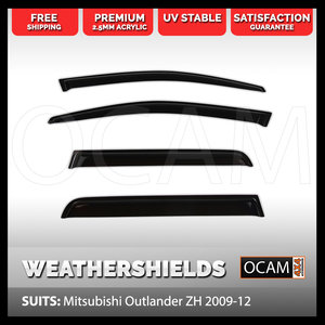 OCAM Weathershields For Mitsubishi Outlander ZH 2009-12 Window Visors