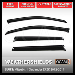 OCAM Weathershields For Mitsubishi Outlander ZJ-ZL 2012-2018 Window Visors