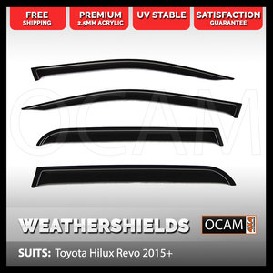OCAM Weathershields For Toyota Hilux N80 2015-2021 Window Visors
