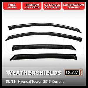 OCAM Weathershields For Hyundai Tucson 2015-Current Tinted Guard