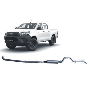 "Redback Extreme Duty 3"" Twin Exhaust System for Toyota Hilux, 01/2015-Current, DPF Back"
