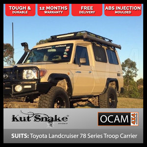 Kut Snake Flares For Toyota Landcruiser 78 Series Troop Carrier ABS - Front Wheels 2007+