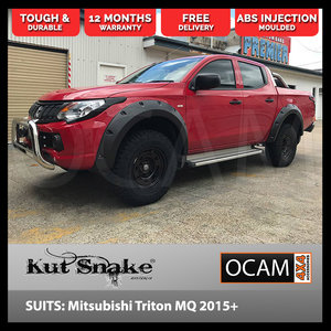 Kut Snake Flares for Mitsubishi Triton MQ 2015-Current Full Set ABS