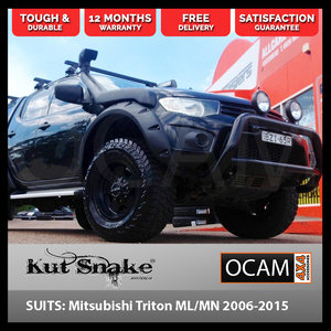 Kut Snake Flares for Mitsubishi Triton ML/MN 2006-2015 Front Wheels ABS