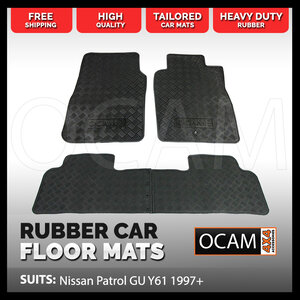 Tailored Rubber Floors Mats for Nissan Patrol GU Y61 1997-15