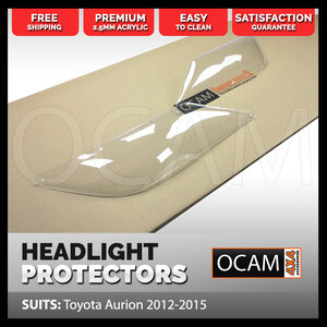 OCAM Headlight Headlamp Protectors for Toyota Aurion 2012-2015 Lamp Covers