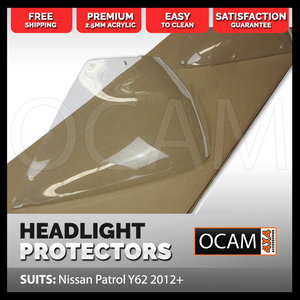 OCAM Headlight Protectors For Nissan Patrol Y62 2012-Current Headlamp Covers