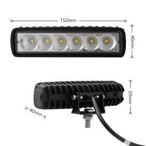 "2 x 6"" 18W LED Lights Yellow FOG"