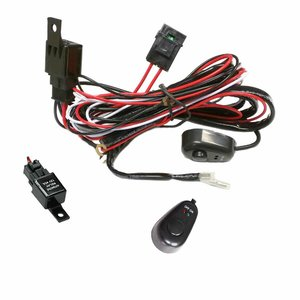 Wiring Loom 2-Way Heavy Duty LED Harness 40A Switch Relay Kit 12V