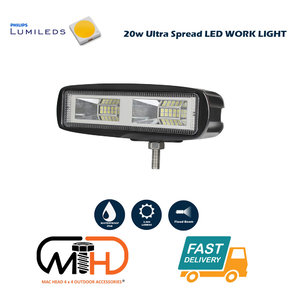 20W LED Work Reverse Driving Light Ultra Flood Lamp 4WD Philips Lumileds