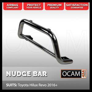 Nudge Bar For Toyota Hilux N80 2015+ Grille Guard Stainless Steel Airbag Compliant