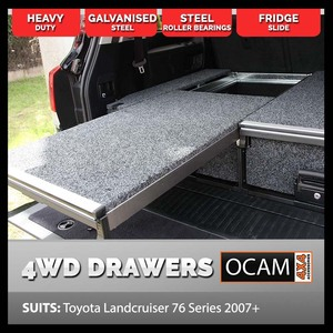 OCAM Rear Drawers For Toyota Landcruiser 76 Series 2007-Current