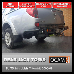 Rear Bar for Mitsubishi Triton ML MN 2006-15 Heavy Duty, ADR Compliant, Tow Bar