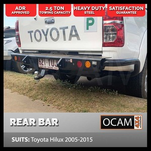 Rear Jack Tow Bar for Toyota Hilux 2005-2015 Heavy Duty Steel, ADR Approved