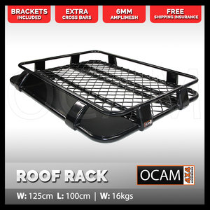 OCAM Aluminium Roof Rack for Space Extra Cab 1000 x 1250 Alloy Cage