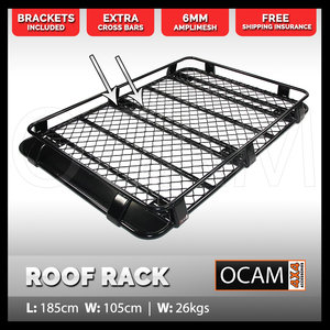 OCAM Aluminium 3/4 Roof Rack For Toyota Prado 120 Series Alloy Basket 1.8M