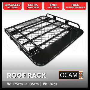 OCAM Aluminium Tradesman Roof Rack for Ford Ranger PX 2012-18 Dual Cab Alloy