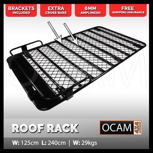 OCAM Aluminium Roof Top Tent Roof Rack 2.4m for Pajero Patrol Landcruiser