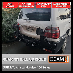 OCAM Rear Bar Dual Wheel Carrier for Toyota Landcruiser 100 Series