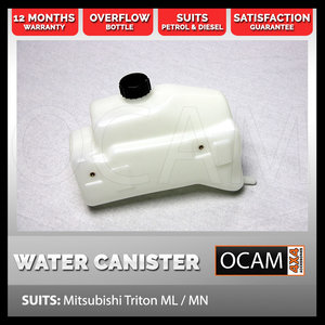 Snorkel Water Canister for MITSUBISHI TRITON ML / MN Overflow Bottle 4X4 4WD
