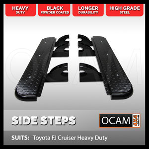 OCAM Steel Side Steps For Toyota FJ Cruiser Heavy Duty