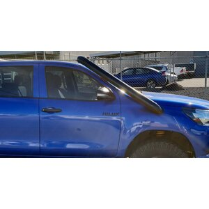 "4"" Stainless Steel Snorkel Satin Black Powdercoat To Suit N80 Hilux 2015-current"